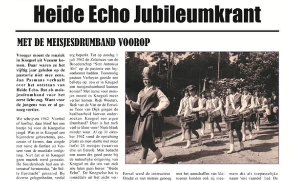 HEIDE ECHO JUBILEUMKRANT UITGEBRACHT