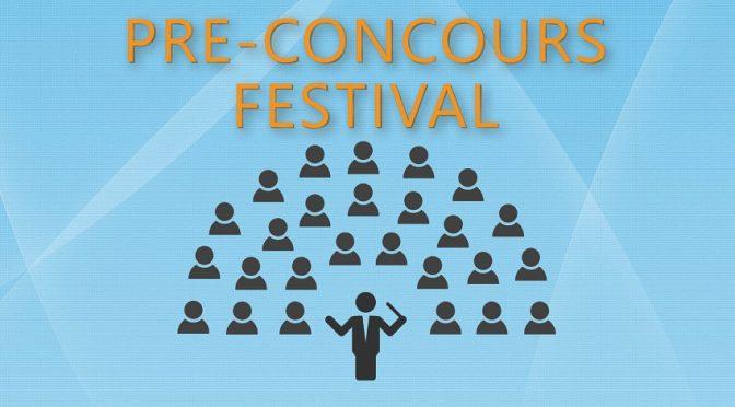 Pre-concours 27 oktober 2019 – Inschrijven nog steeds mogelijk
